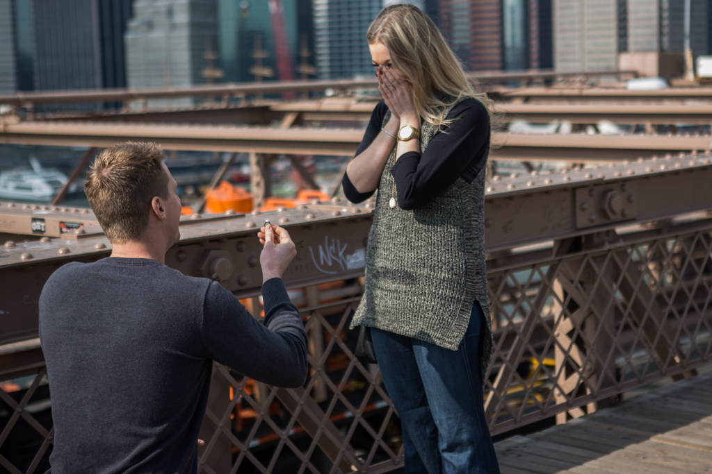 Photo 3 Surprise Wedding Proposal on Brooklyn Bridge. | VladLeto