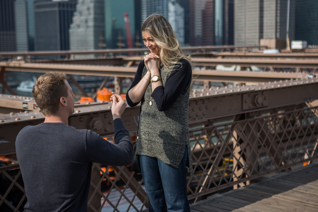 Photo 4 Surprise Wedding Proposal on Brooklyn Bridge. | VladLeto