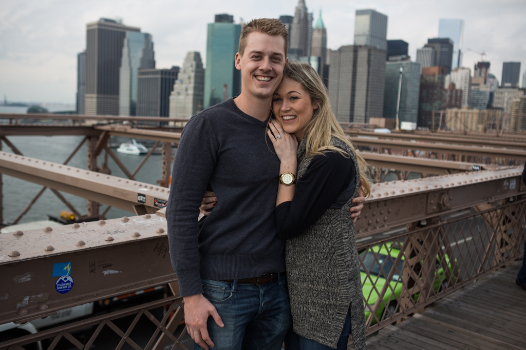 Photo 6 Surprise Wedding Proposal on Brooklyn Bridge. | VladLeto