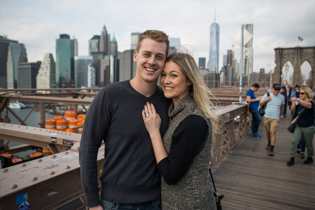 Photo 8 Surprise Wedding Proposal on Brooklyn Bridge. | VladLeto