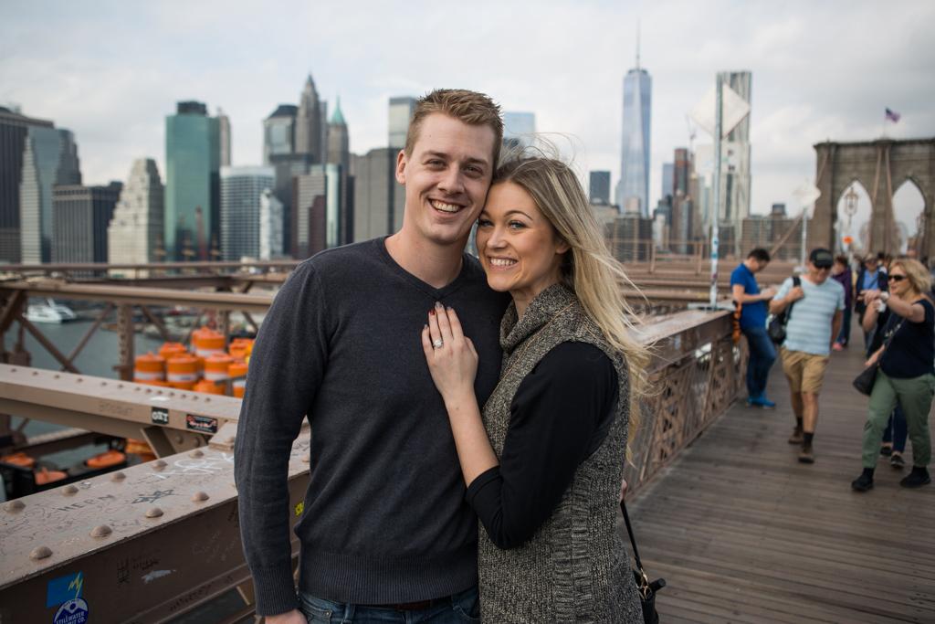 Marriage Proposal Brooklyn Bridge