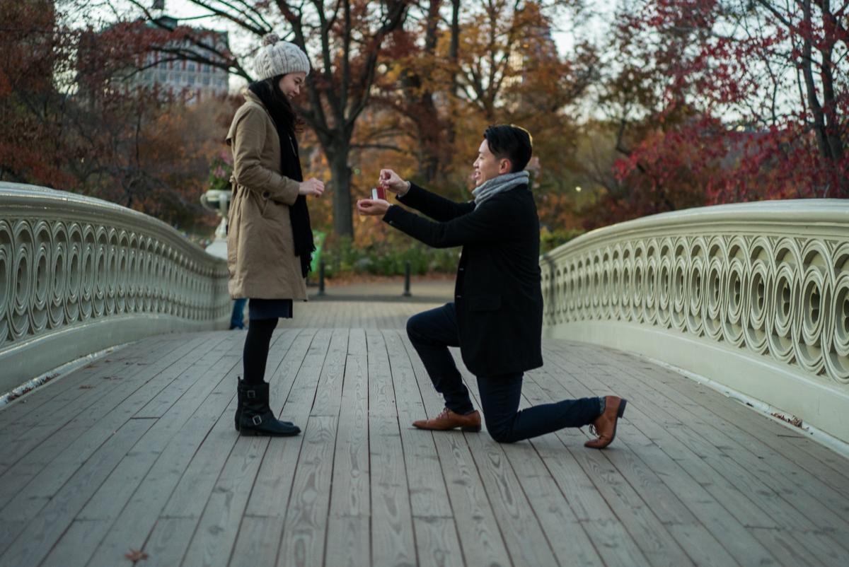 Photo Central Park Bow bridge Surprise Proposal | VladLeto