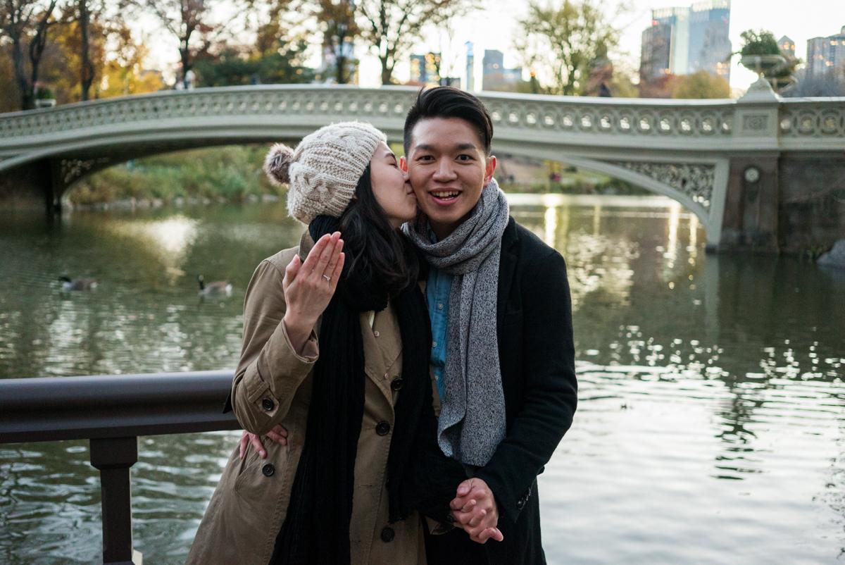 Photo 8 Central Park Bow bridge Surprise Proposal | VladLeto