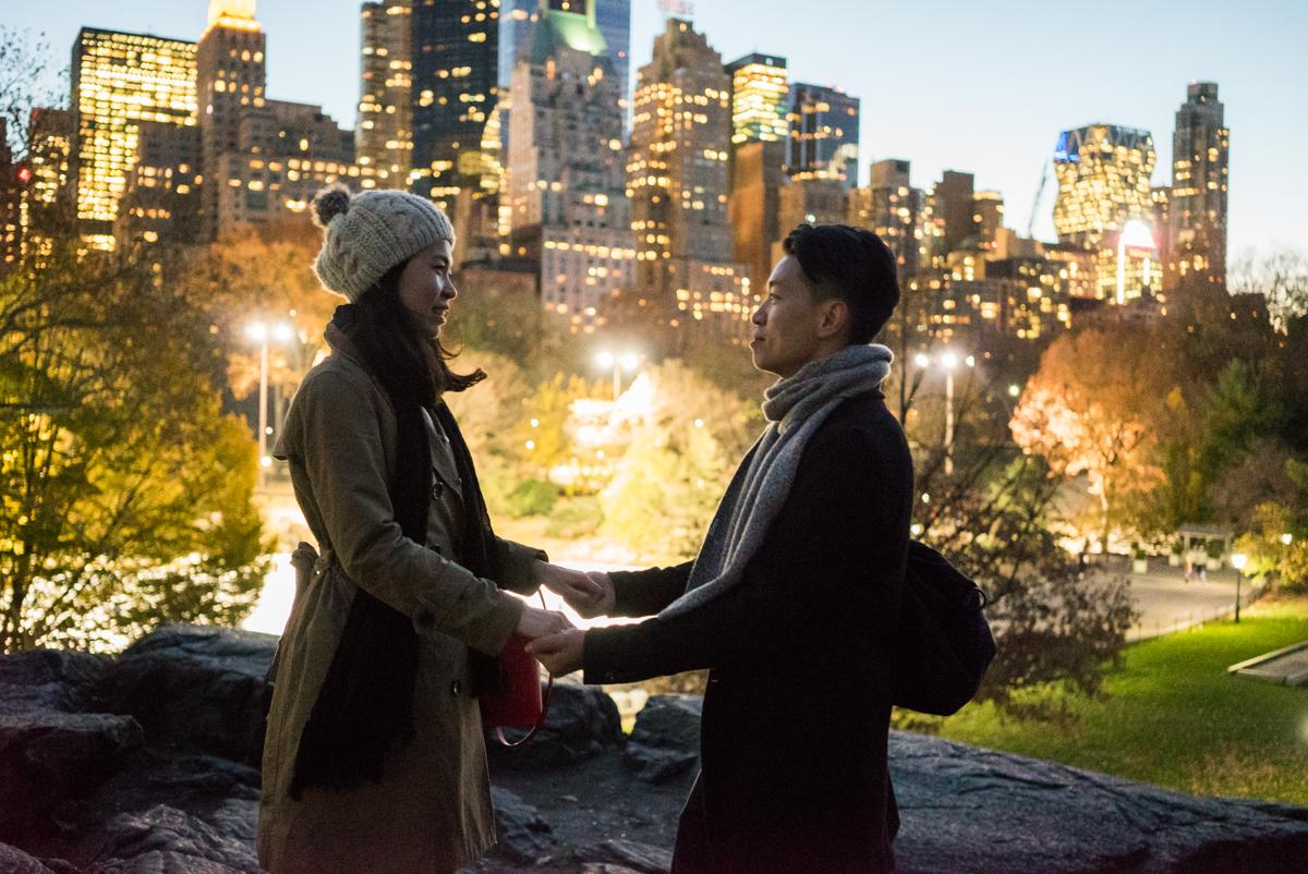 Photo 11 Central Park Bow bridge Surprise Proposal | VladLeto