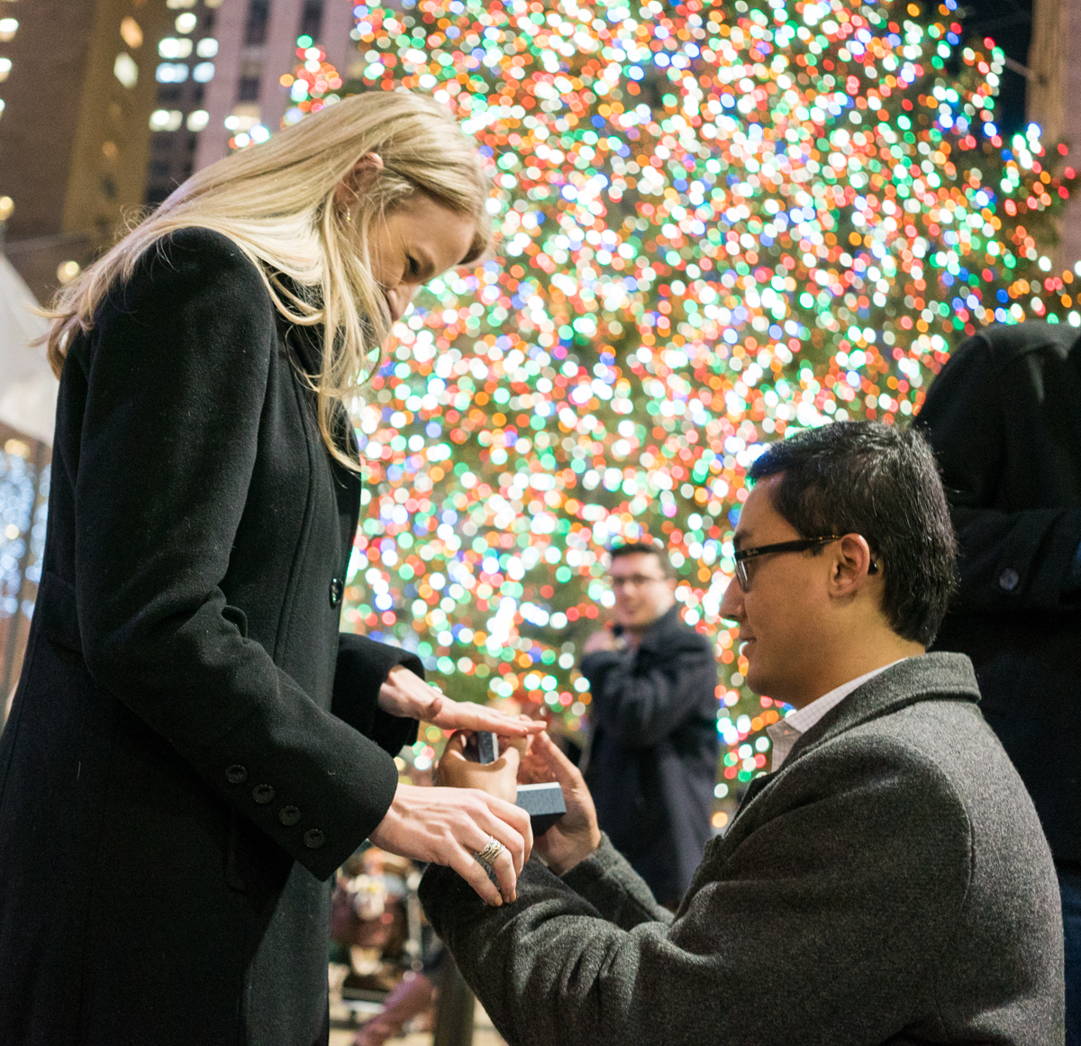 Photo 7 Christmas tree at Rockefeller Center secret proposal | VladLeto