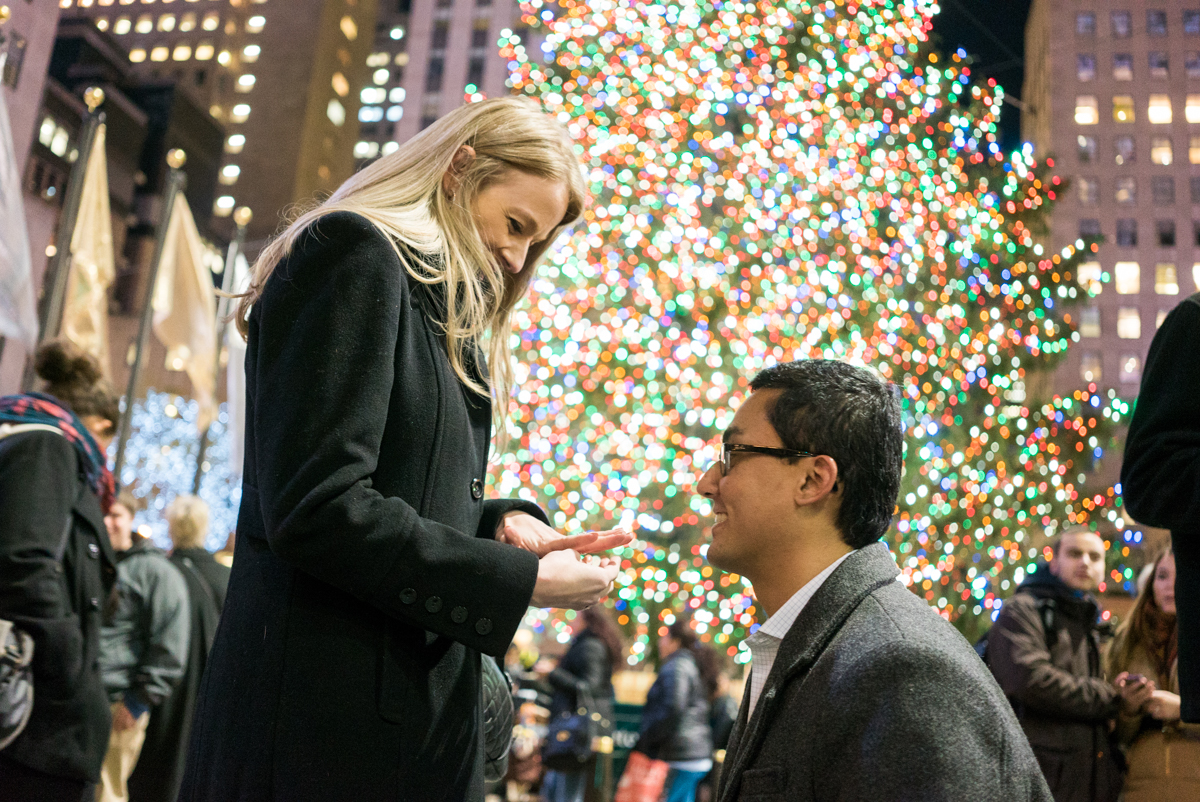 Photo 5 Christmas tree at Rockefeller Center secret proposal | VladLeto