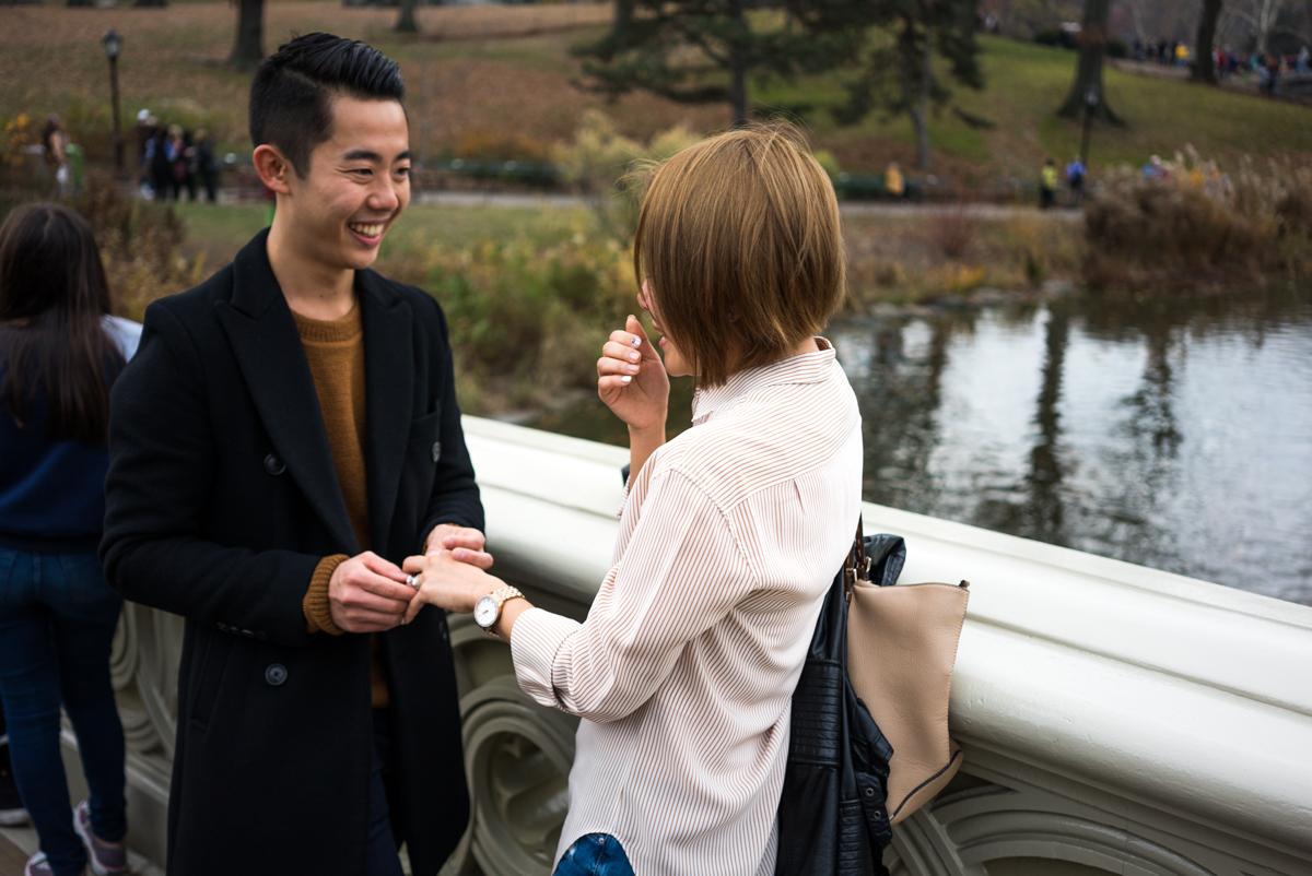 Photo 4 Bow Bridge Marriage proposal NYC | VladLeto