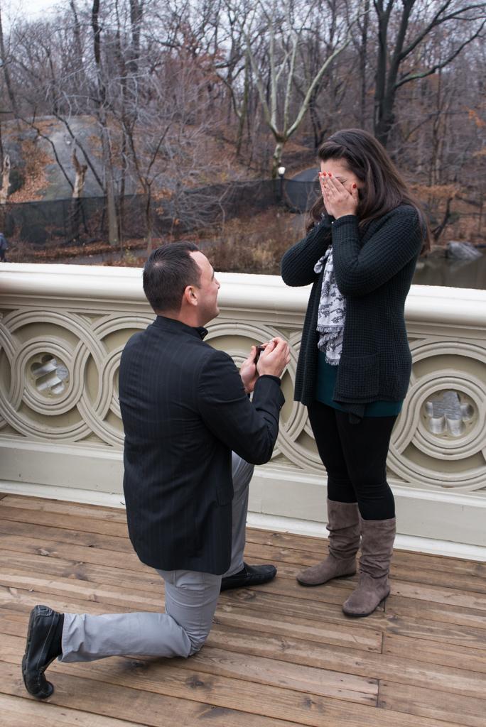 Photo 2 Bow bridge marriage proposal in NY | VladLeto
