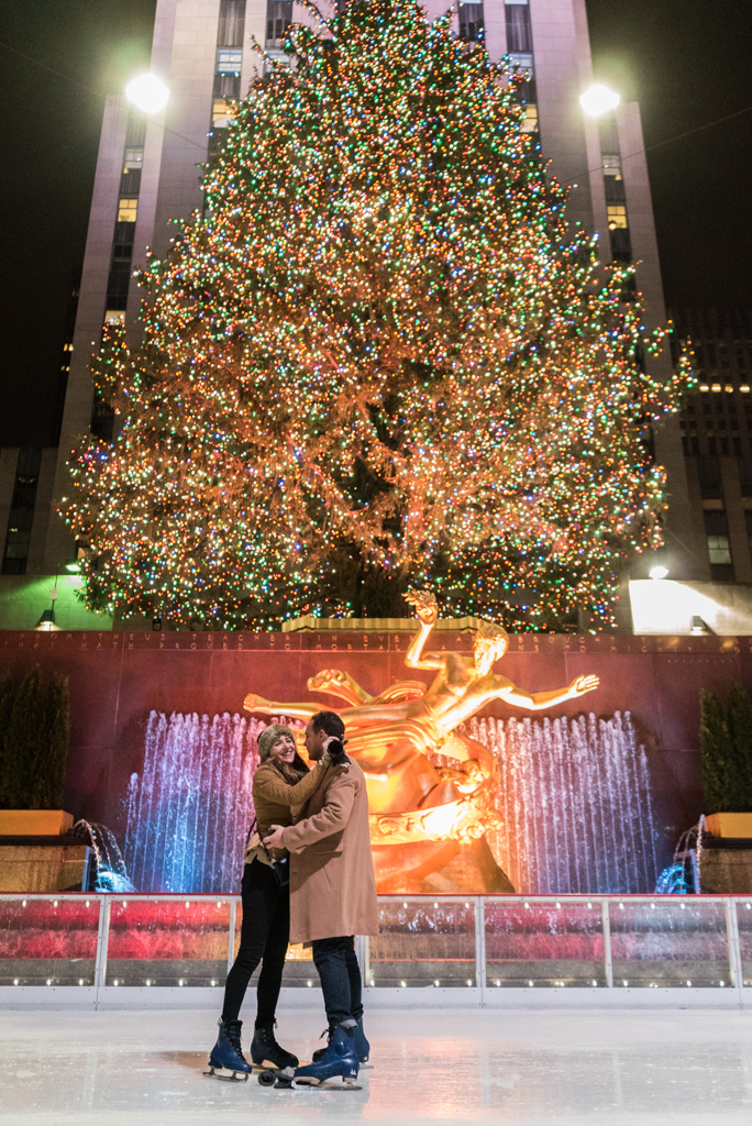 Photo 7 Engagement on Ice - The Rink at Rockefeller Center secret proposal. | VladLeto