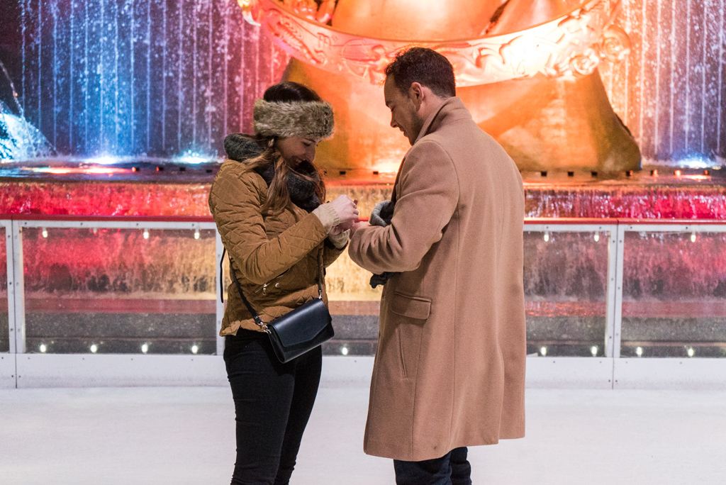 Photo 11 Engagement on Ice - The Rink at Rockefeller Center secret proposal. | VladLeto