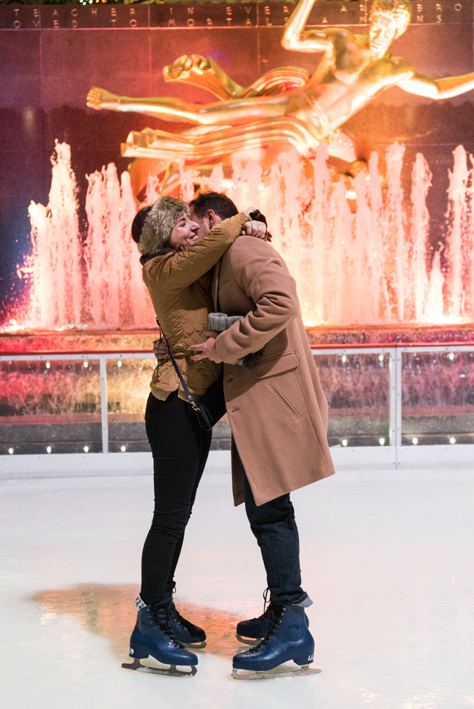 Photo 13 Engagement on Ice - The Rink at Rockefeller Center secret proposal. | VladLeto