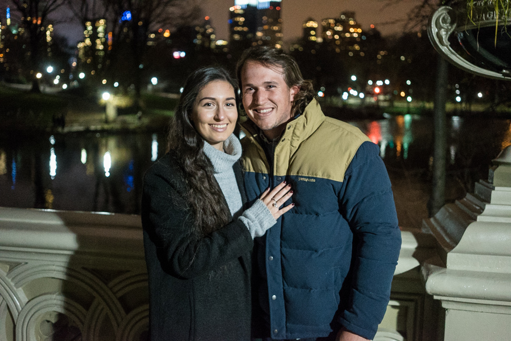 Photo 4 Bow bridge marriage proposal at night.   VladLeto