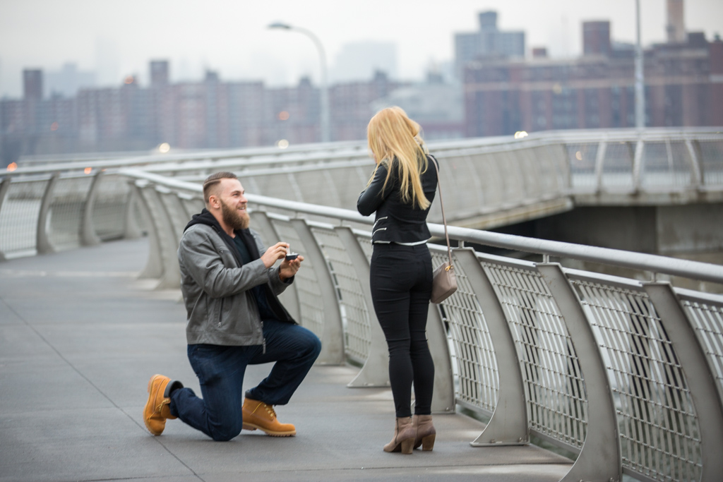 Photo 2 Greenpoint Brooklyn marriage proposal at secret spot. | VladLeto