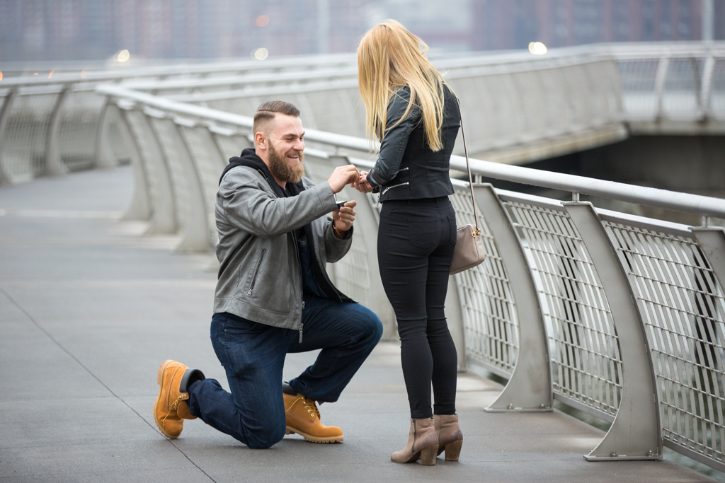 Photo 7 Greenpoint Brooklyn marriage proposal at secret spot. | VladLeto