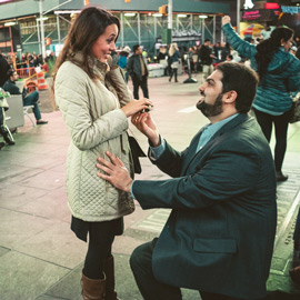 Photo Times Square Marriage proposal New York City | VladLeto