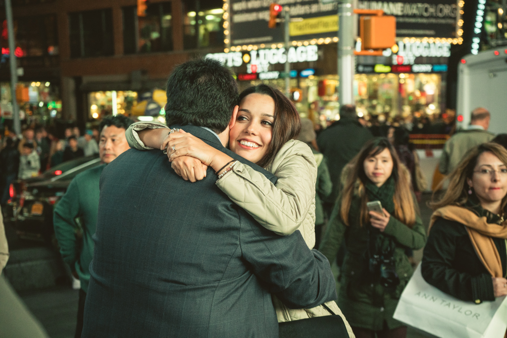 Times Square Marriage proposal New York City