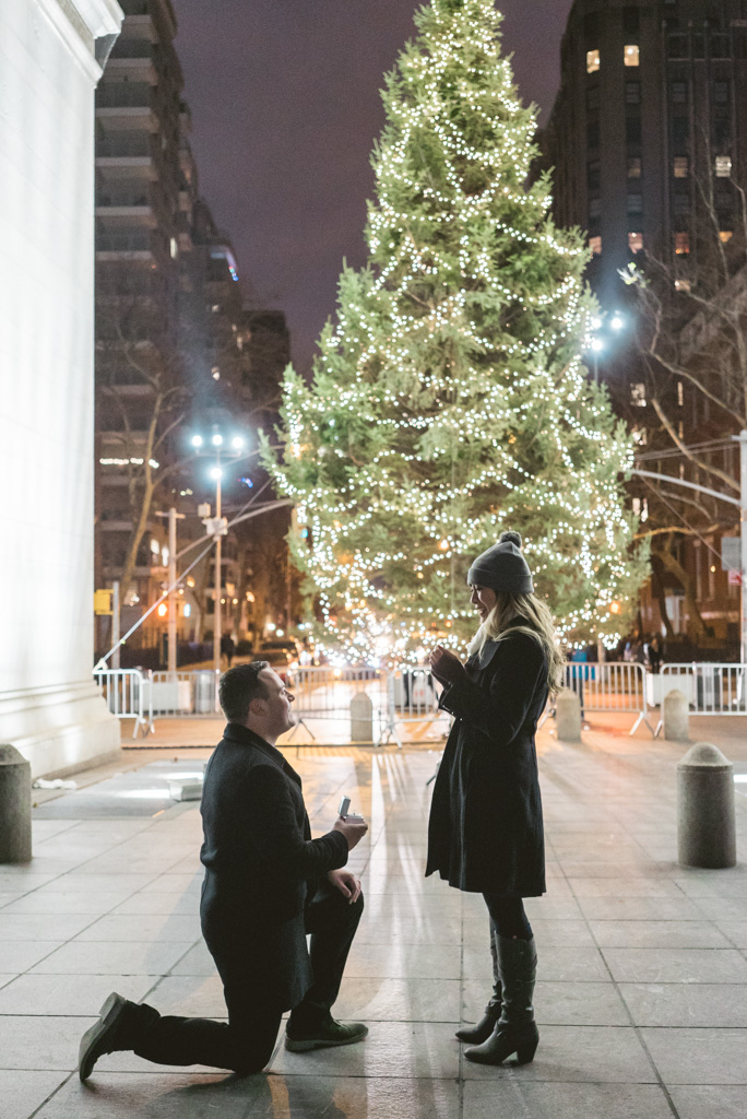 Washington Square Marriage proposal New York City