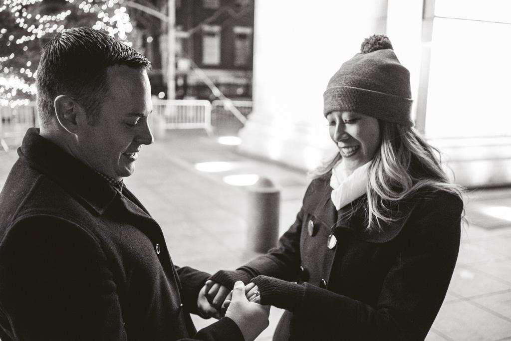 Washington Square Marriage proposal New York City