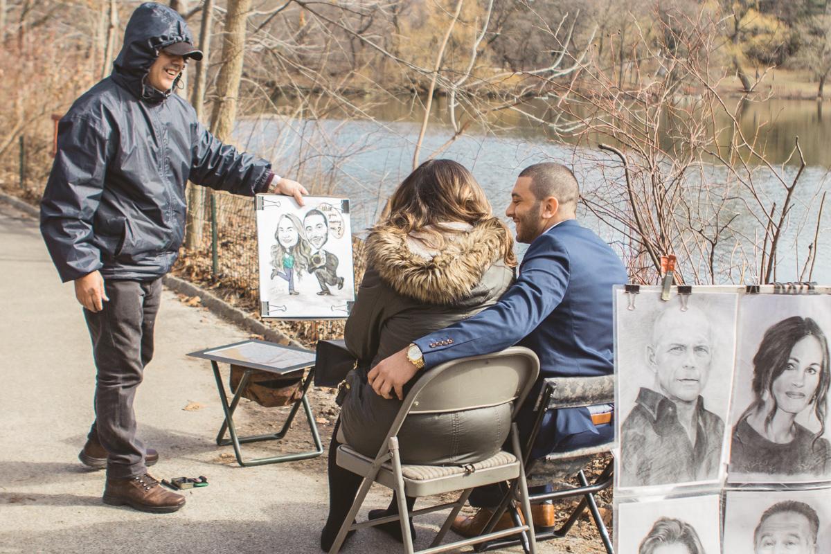 Central Park Marriage proposal under Bow Bridge