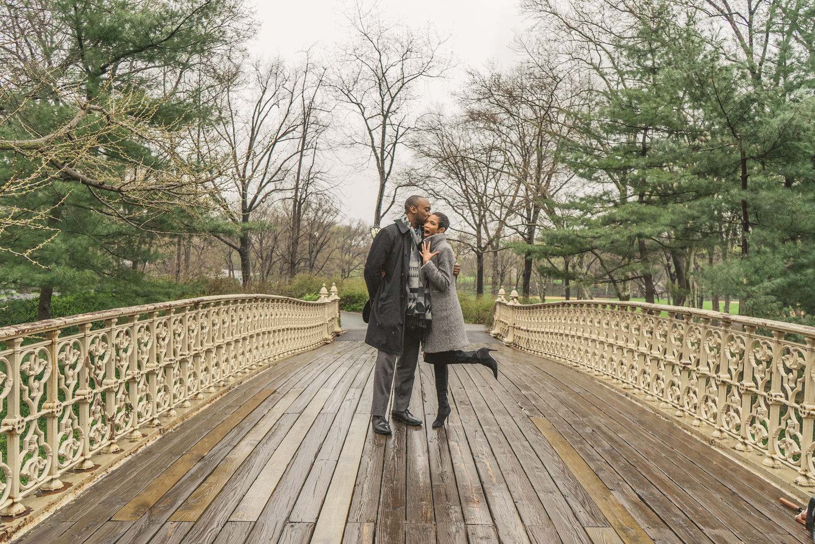 Pine Bank bridge Central Park Marriage Proposal