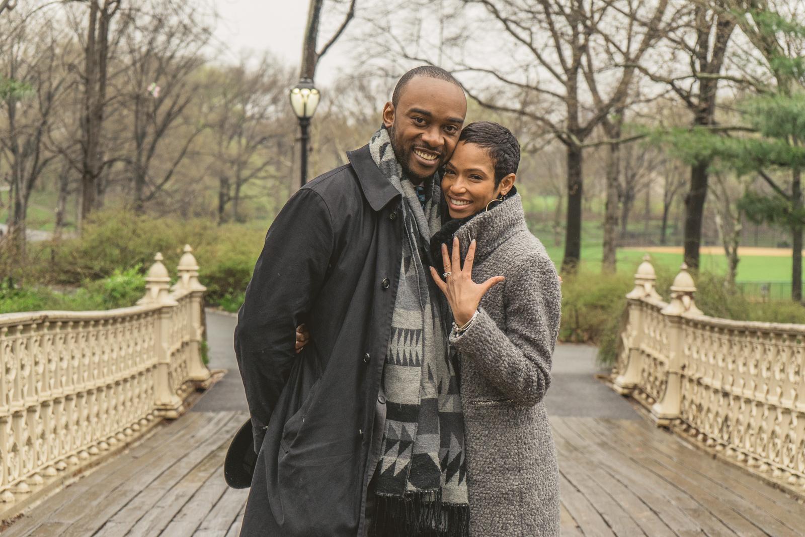 Photo 17 Pine Bank bridge Central Park Marriage Proposal | VladLeto
