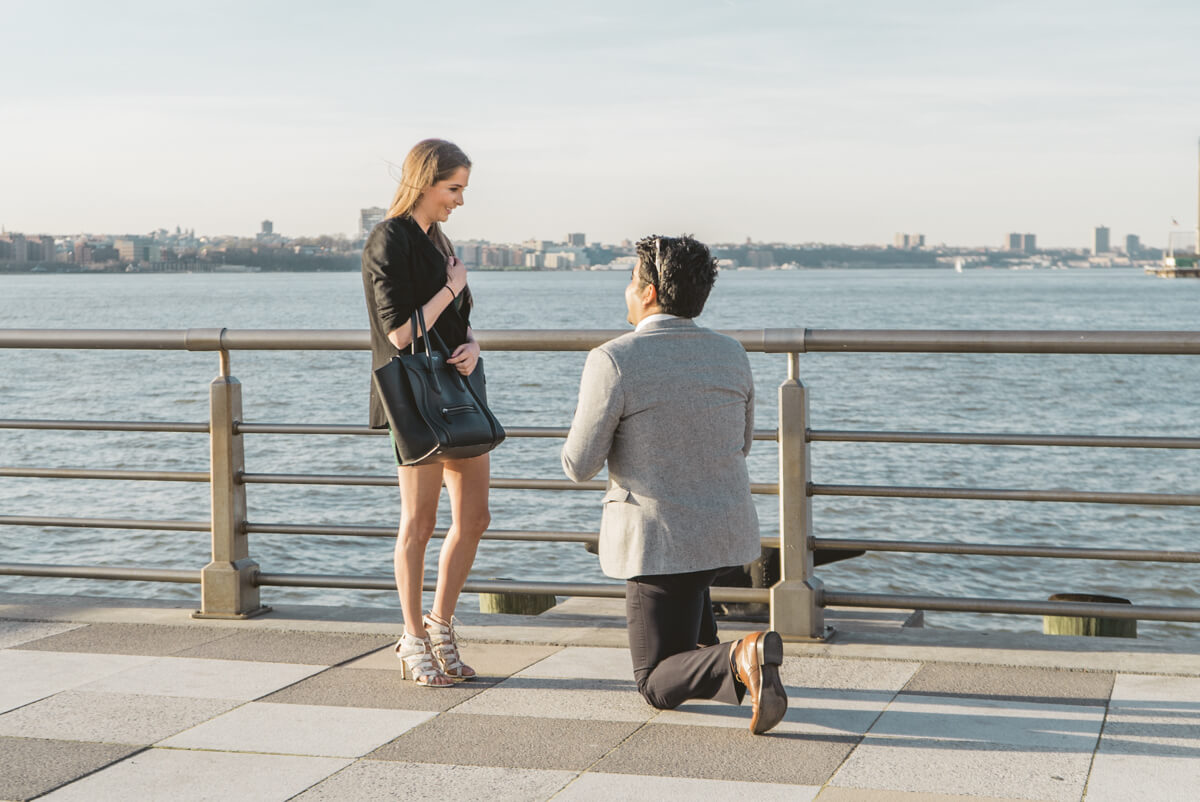 Photo 2 Marriage proposal at Pier 25, Hudson River Park, NYC. | VladLeto