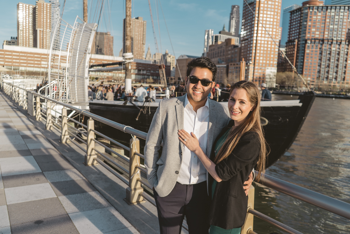 Marriage proposal at Pier 25, Hudson River Park, NYC