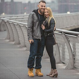 Brittany and Artur Greenpoint Pier, Brooklyn Marriage Proposal. February 2016