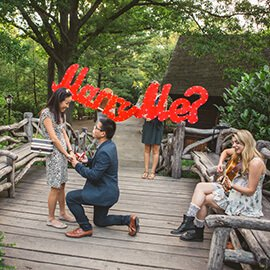 Jonathan and Kit Proposal in Central Park July 2016