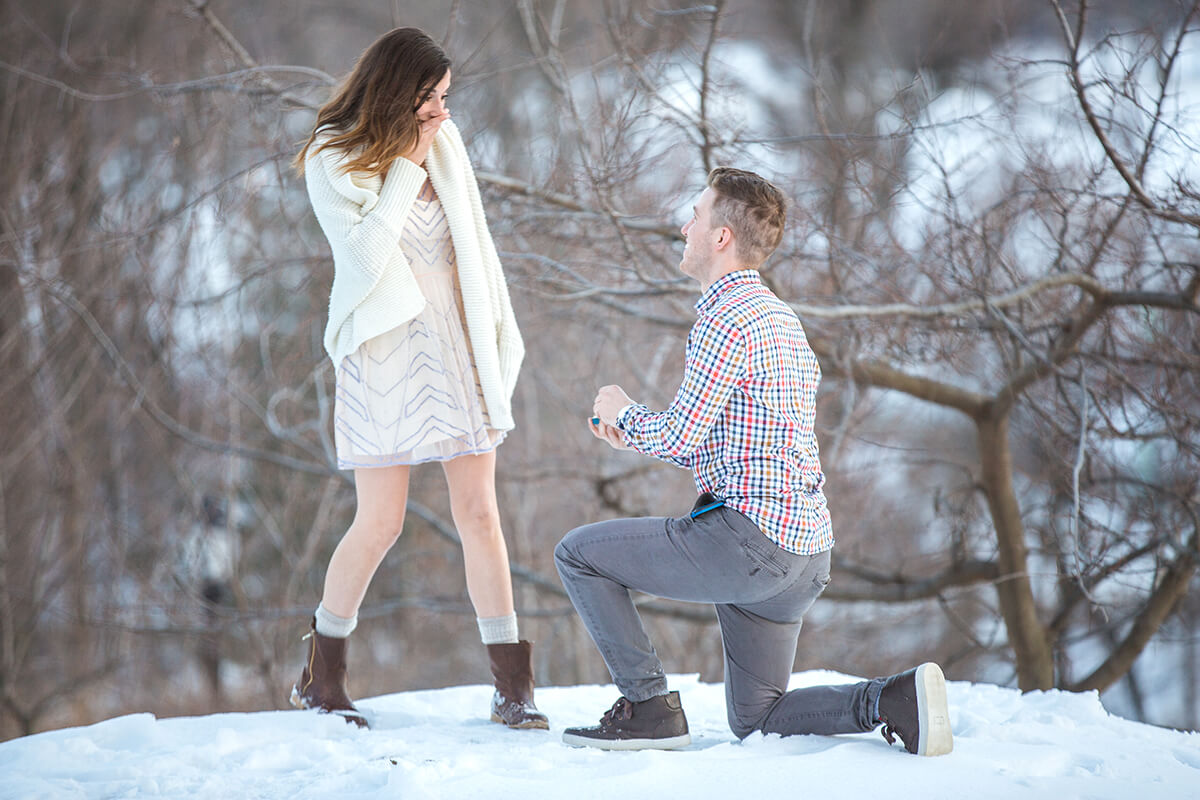 Photo Central Park Winter Proposal. February 2015 | VladLeto