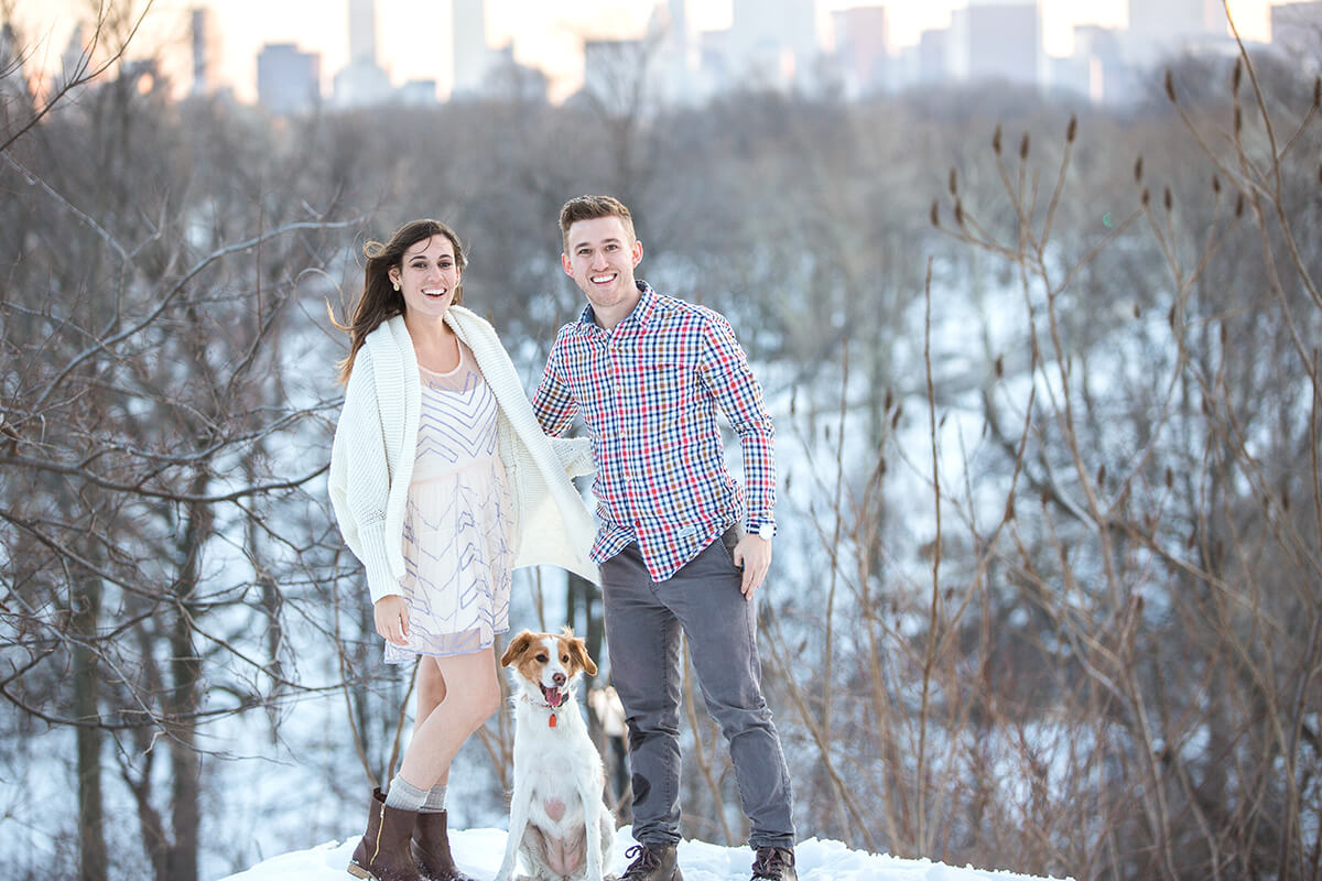 Photo 7 Central Park Winter Proposal. February 2015 | VladLeto
