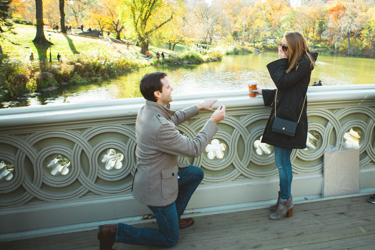 Photo 2 Bow bridge Marriage Proposal in Central Park