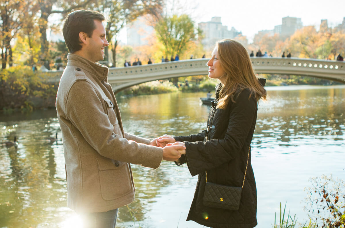 Photo 6 Bow bridge Marriage Proposal in Central Park