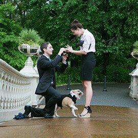 Bow Bridge Marriage Proposal