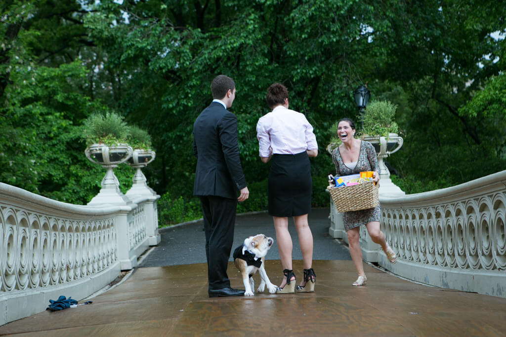 Photo 2 Bow bridge marriage Proposal in Central Park | VladLeto
