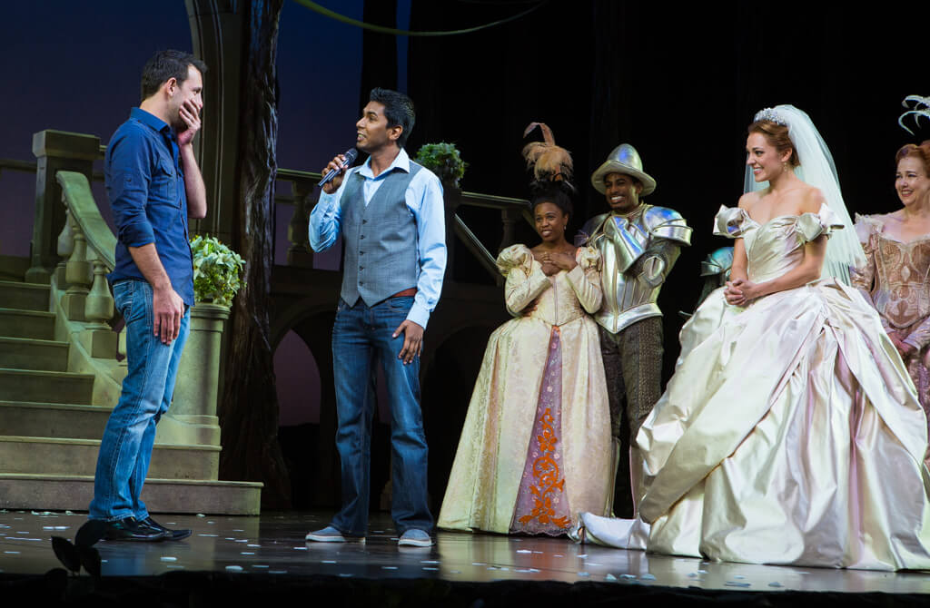 Photo Kunal and Jason Cinderella Broadway show Marriage Proposal. September 2013 | VladLeto