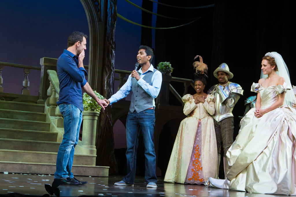 Photo 2 Kunal and Jason Cinderella Broadway show Marriage Proposal. September 2013 | VladLeto