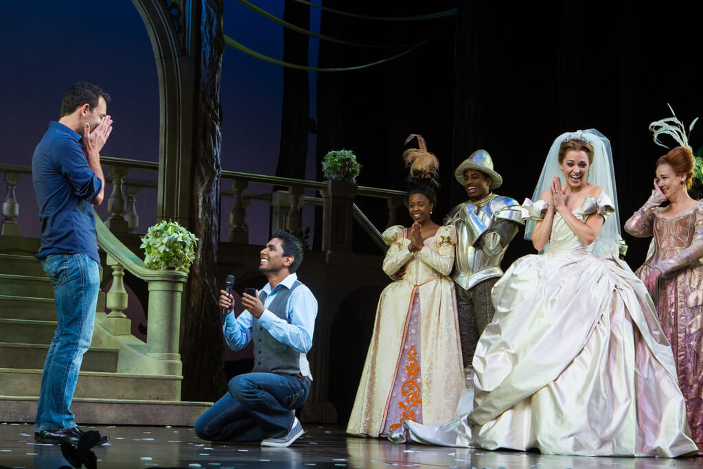 Photo 3 Kunal and Jason Cinderella Broadway show Marriage Proposal. September 2013 | VladLeto