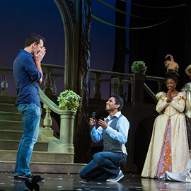 Kunal and Jason Cinderella Broadway show Marriage Proposal. September 2013