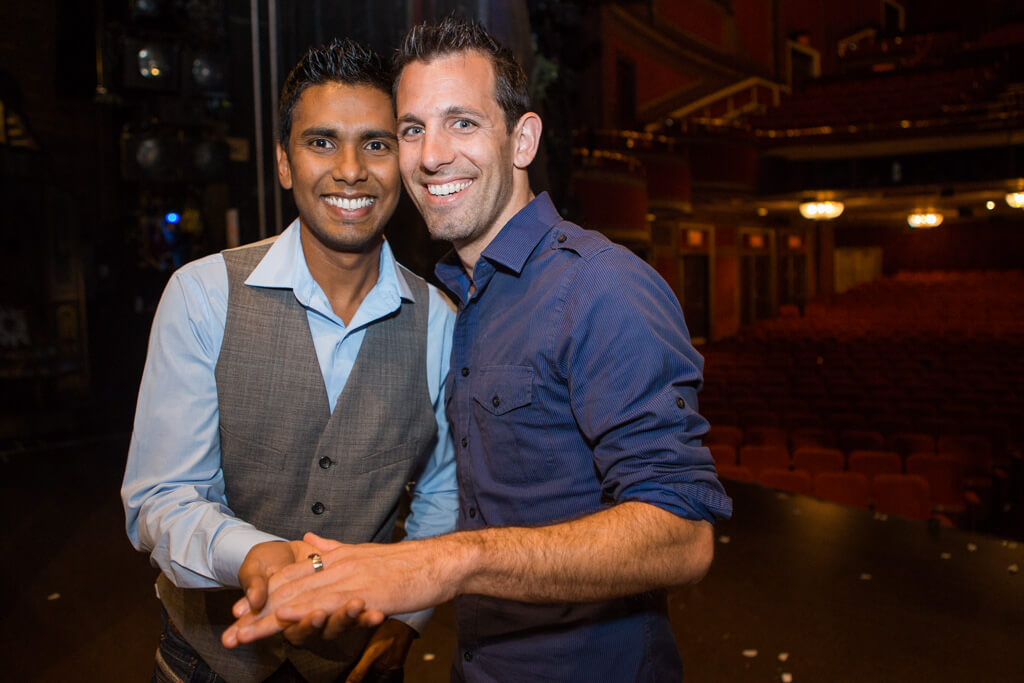 Photo 6 Kunal and Jason Cinderella Broadway show Marriage Proposal. September 2013 | VladLeto