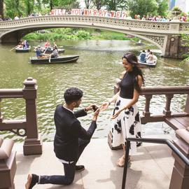 Photo Bow Bridge view proposal in Central Park | VladLeto