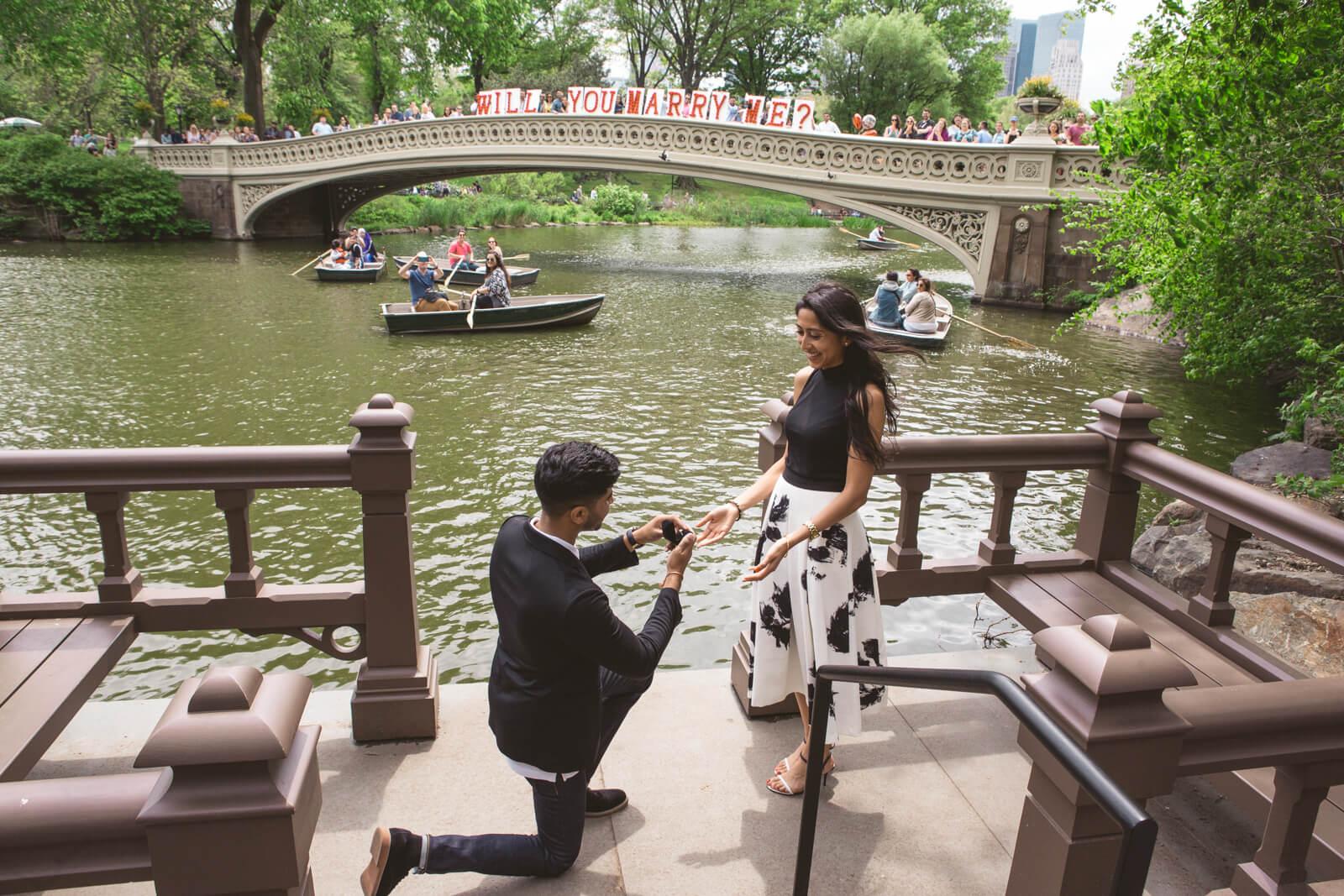 Photo 3 Bow Bridge view proposal in Central Park | VladLeto