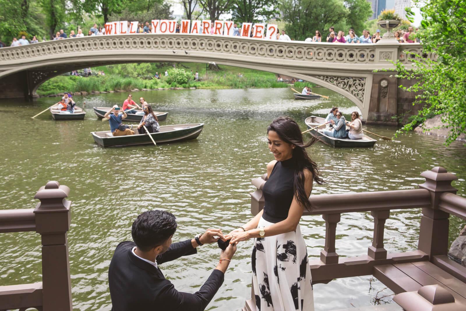 Photo 5 Bow Bridge view proposal in Central Park | VladLeto