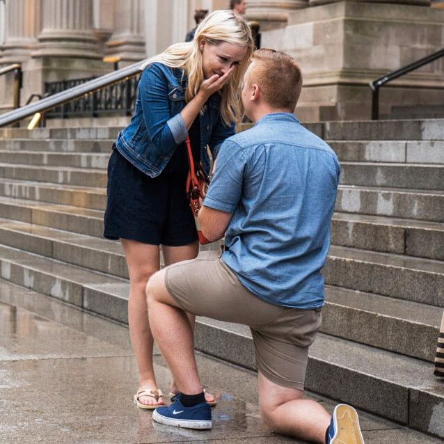 Photo 4 Marriage proposal in front Metropolitan museum. | VladLeto