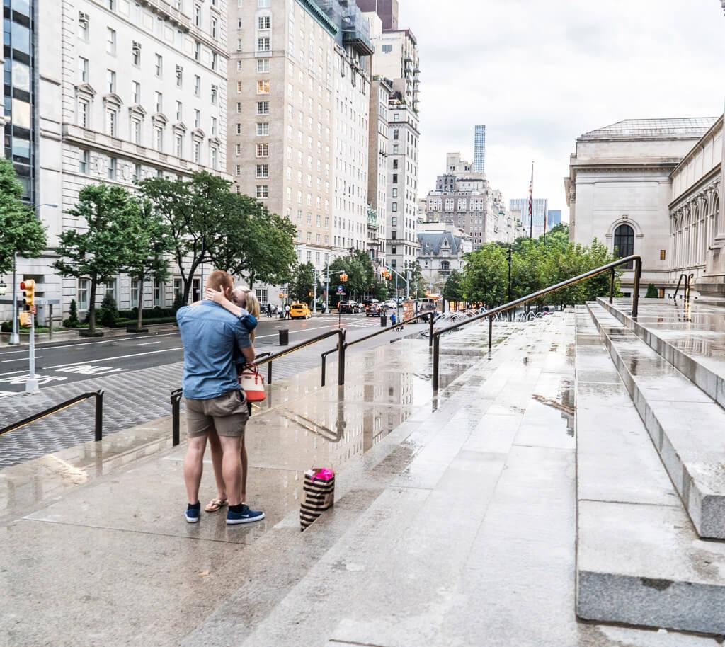 Photo 5 Marriage proposal in front Metropolitan museum. | VladLeto