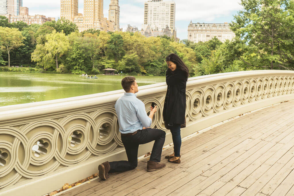Photo 2 Marriage Proposal on Bow Bridge, Central Park. | VladLeto