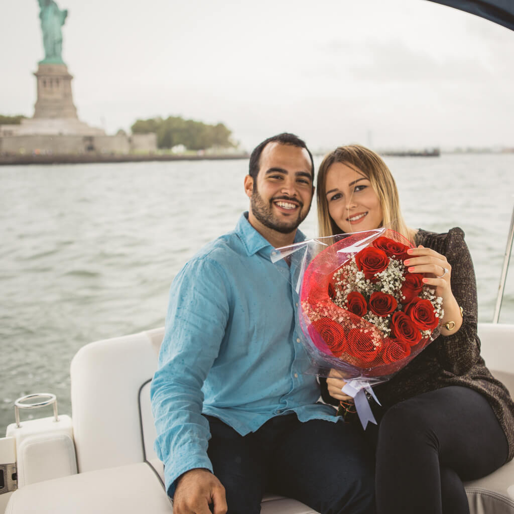 Statue of Liberty marriage proposal