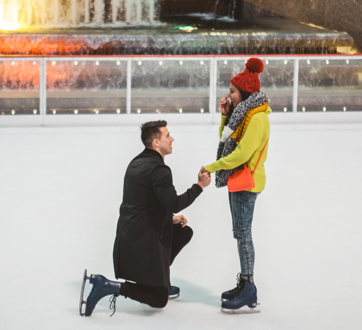 Photo 5 Ice Skating Marriage Proposal. The Rink at Rockefeller Center. | VladLeto