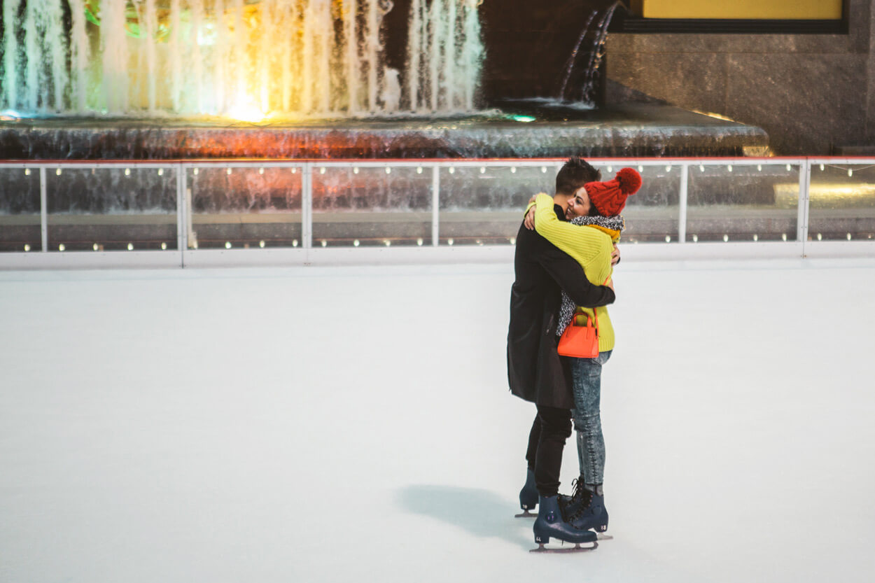 Photo 12 Ice Skating Marriage Proposal. The Rink at Rockefeller Center. | VladLeto