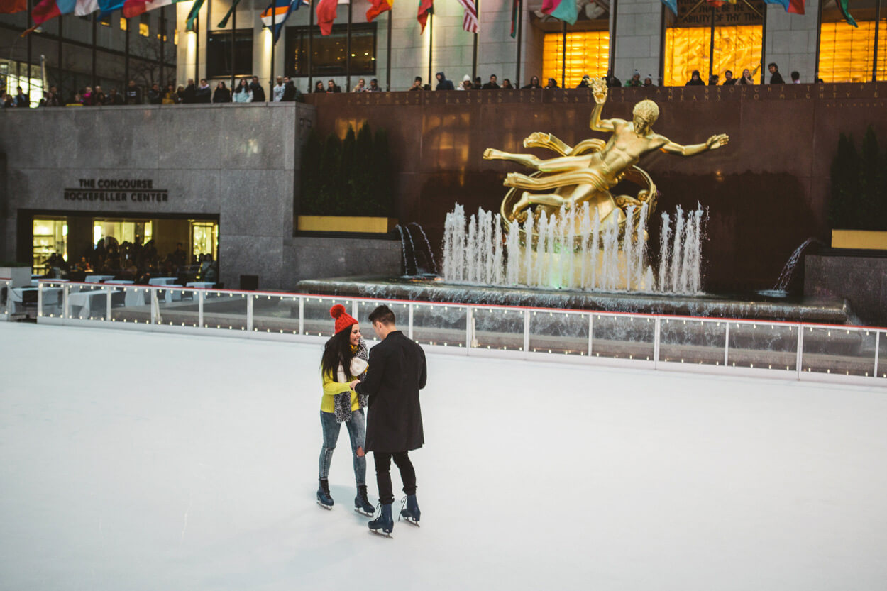 Photo 13 Ice Skating Marriage Proposal. The Rink at Rockefeller Center. | VladLeto